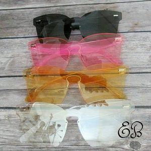 Frameless Monolens Sunglasses Rimless