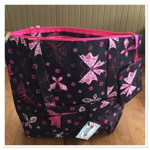 Karriage Mate Handbags - Butterfly Tote w/ Matching Coin Purse