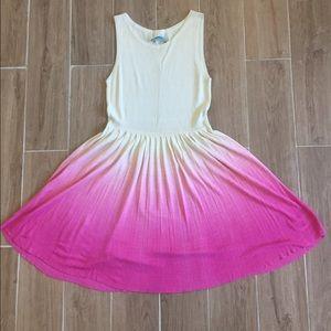 Alice + Olivia Dresses & Skirts - Alice & Olivia cream and pink ombré silk dress