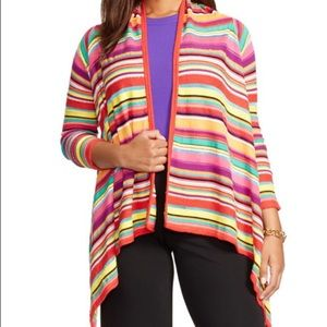 Lauren Ralph Lauren Sweaters - Lauren bright striped open sweater with sleeves