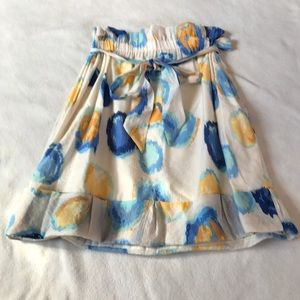 Anthropologie Dresses & Skirts - HP Lapis Anthropologie Cream And Blue A Line Skirt