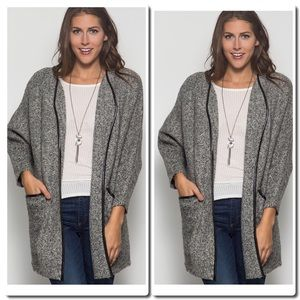 She and Sky Jackets & Blazers - FIRM -Long Sleeve Coat Cardigan in Gray -