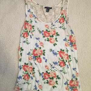 Ariana Grande Tops - Floral tank-top (worn with Ariana Grande)