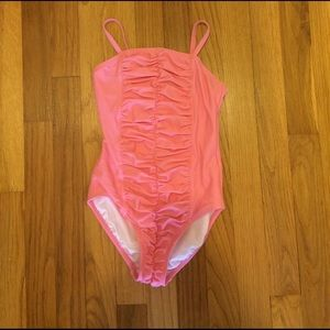 Hanna Andersson Other - Hanna Andersson Pink Gathered 1 Pc.  Bathing Suit