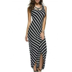 Dresses & Skirts - LAST ONE! Black and White Striped Maxi Dress