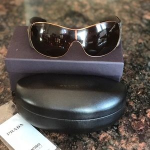 Prada Wrap Around Aviator Sunglasses