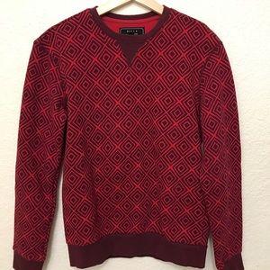 21men Other - 21 Men Red Patterned Sweatshirt XS