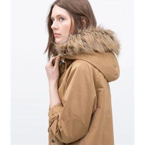 Zara Jackets & Blazers - 🆕 Zara Parka with fur hood