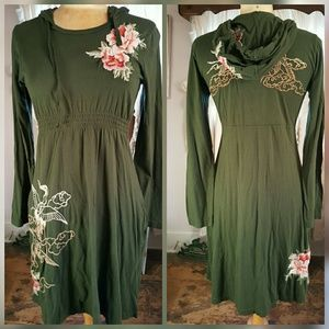 Johnny Was Dresses & Skirts - ☘HP😎 JWLA Johnny Was CRANE Embroidered Hood Dress