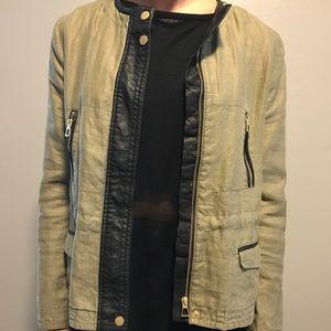 Military jacket, size medium, from Zara.