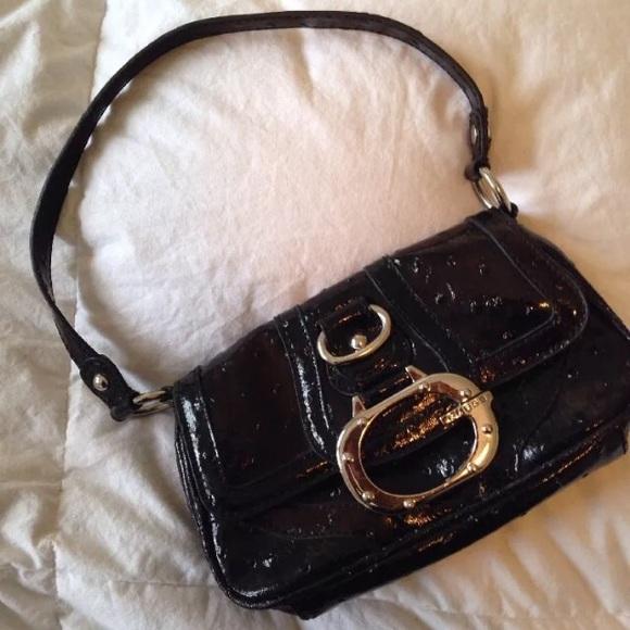 Guess Handbags - Guess Big G Patent Leather Mini Handbag c3fefb0795800