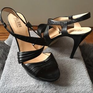 Guess by Marciano Shoes - Guess by Marciano Leather Platform Heel Sandal