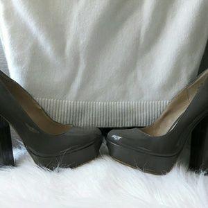 MIA Chunky Heel Platform Pumps