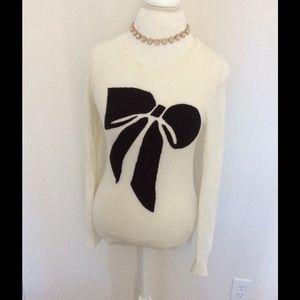 J.Crew Factory Sweaters - J.Crew Intersia bow sweater 🎀