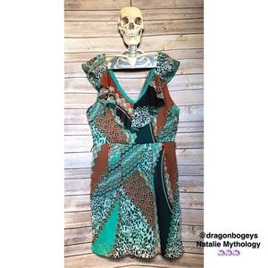 Bisou Bisou Dresses & Skirts - Bisou Bisou Mixed Print Dress