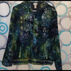 Chico's Jackets & Blazers - Chico's jacket size 1=M embellished front pockets