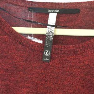 Kensie Tops - Red long sleeved Kensie top/blouse NWT
