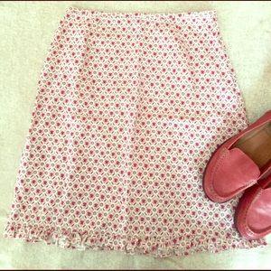J. Crew Dresses & Skirts - J. Crew Red and White Skirt