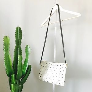 Clare Vivier Handbags - Clare Vivier Sac Brettle Bag in Cream + Black Dots
