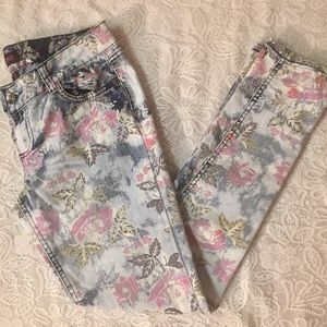 Light Colored Floral Jeans
