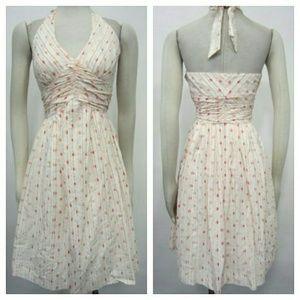 Anthropologie Dresses & Skirts - {Anthropologie} Ivory Polka Halter Dress