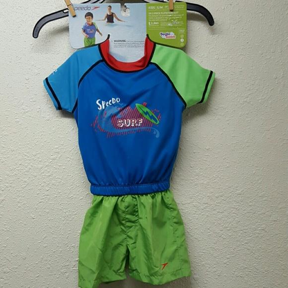 d02661370ab Kids Speedo Boys UV 2 Piece Flotation Suit New