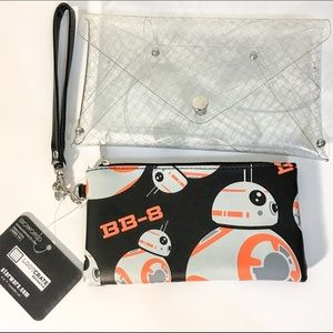 Bioworld Handbags - NWT Loot Crate exclusive BB8 2in1 clutch purse