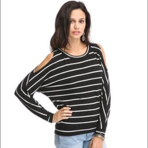 Chaser Sweaters - NWT chaser open shoulder open back sweater M