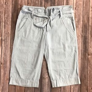 Elevenses Anthropologie Cropped Capri Pants Size 6
