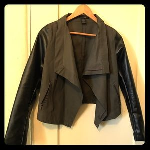 Allison Izu Jackets & Blazers - Faux leather super cute jacket. Great condition.