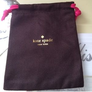 Five Kate Spade brown and pink dust bags