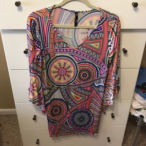 beautiful patterned dress, worn once, size large