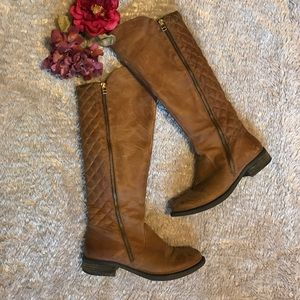 Steven by Steve Madden Shoes - ⭐️ sale ⭐️ Brown Quilted leather boots
