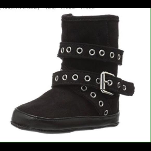 65102a67794 Stuart Weitzman Baby Eyelet-K Boot black sz 2