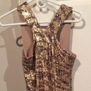 Rachel Zoe Gold Sequin Dress