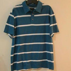 5 for $25 sale Men's striped cotton polo shirt