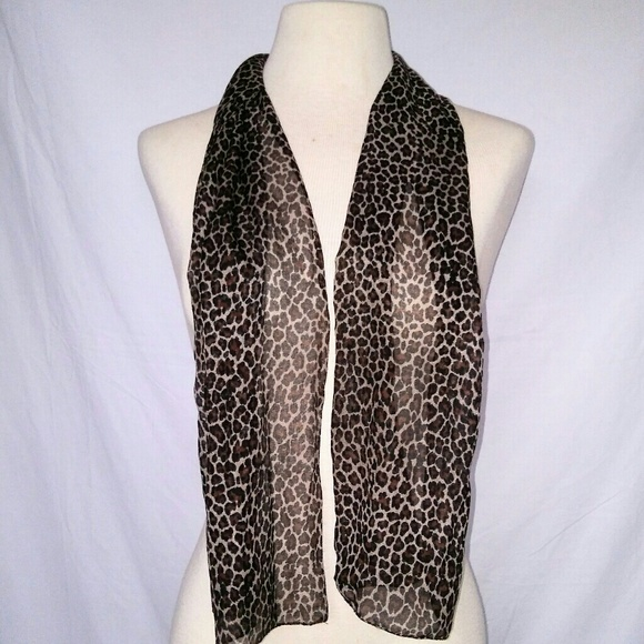 Vintage Accessories - #hundredsofscarves: SHEER Animal Print Scarf