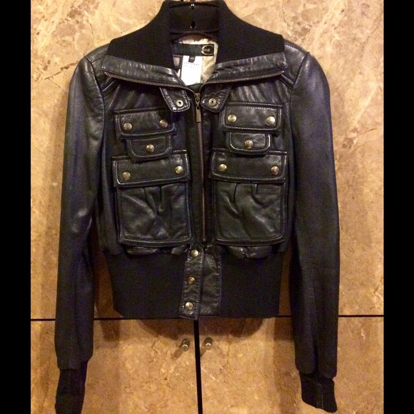 Just Cavalli Jackets & Blazers - Just Cavalli Leather Bomber