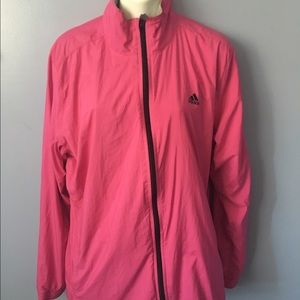 Pink adidas jacket XL