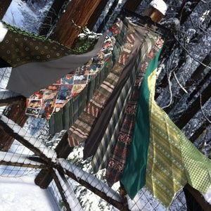HP BohoTie Skirt done in shades of green