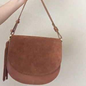 Handbags - Leather Suede Crossbody Bag