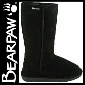 BearPaw Shoes - BearPaw Suede Sheepskin Black Boots