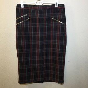 Philosophy Republic Clothing plaid pencil skirt