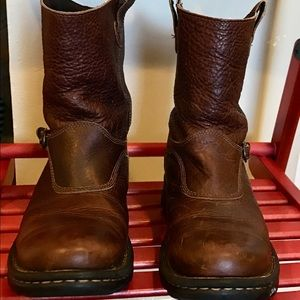 a56c0cd731c C. E. Schmidt Brown Leather Pull-on BOOTS!Fit W-9