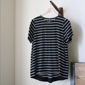 Madewell Silk Tailored Tee in Stripe