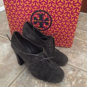 Tory Burch Shoes - 💚 Tory Burch grey suede platform heel sz 7, used