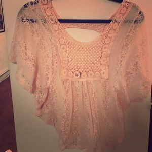 Poof! Tops - Light pink dressy top