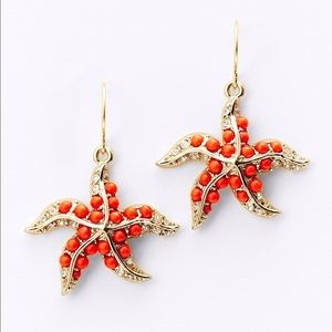 NWT Ann Taylor starfish earrings