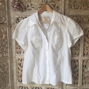 MICHAEL Michael Kors Tops - Michael Kors button down white shirt size 1X
