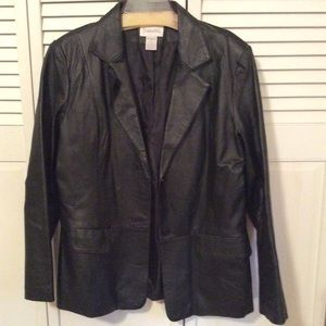 Black leather women's jacket